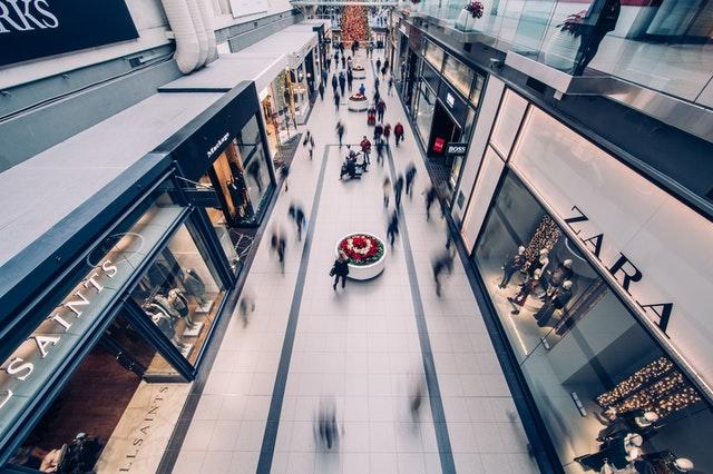 Tapizados en centros comerciales